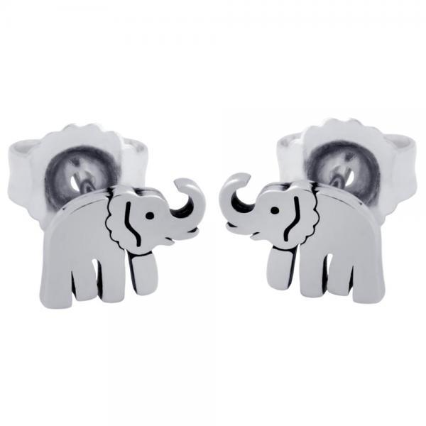 Cercei argint 925 cu elefanti 0