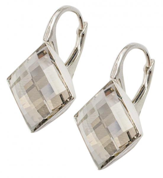 Cercei argint 925 cu swarovski elements culoare Black Diamond 0