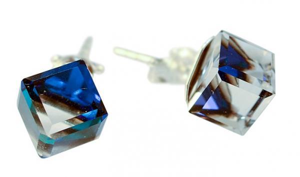 Cercei argint 925 cu swarovski elements Bermuda Blue 0