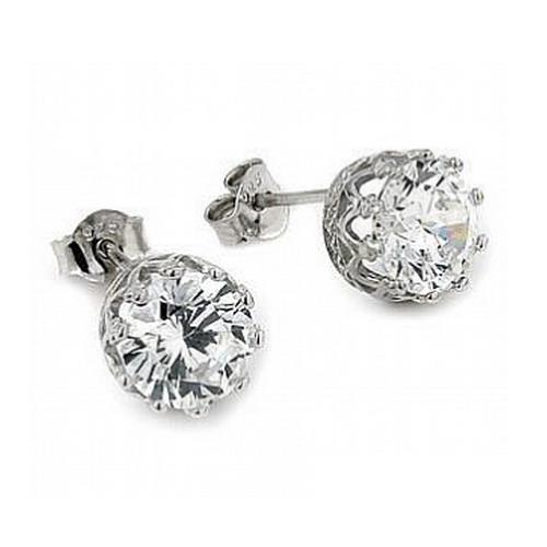 Cercei argint 925 eleganti cu zirconii stil coroana [0]