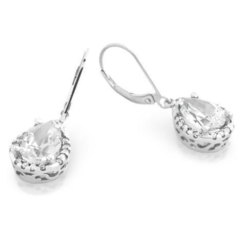 Cercei argint 925 picatura cu zirconii albe ESX0301 Be Elegant [0]