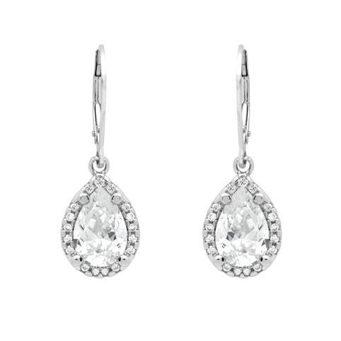 Cercei argint 925 picatura cu zirconii albe ESX0301 Be Elegant 1