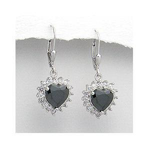 Cercei argint 925 rodiat inimioare si zirconii albastre 0
