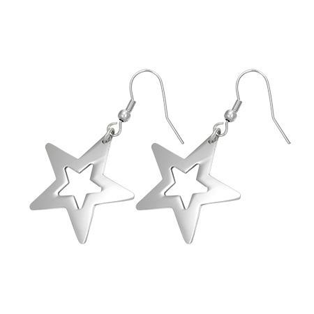 Cercei cu stele din otel inox Shining Star [0]
