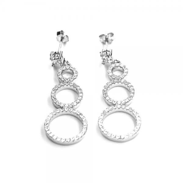 Cercei eleganti argint 925 cu zirconii translucide 0