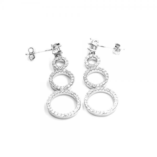 Cercei eleganti argint 925 cu zirconii translucide 1