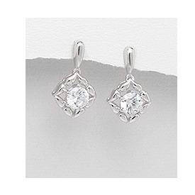 Cercei eleganti din argint 925 rodiat cu zirconii 0