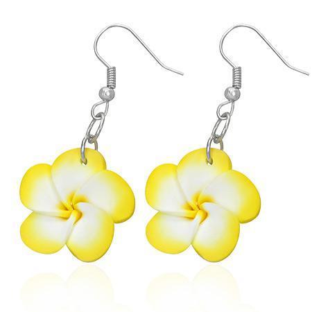 Cercei fantezie cu floricele galbene 0