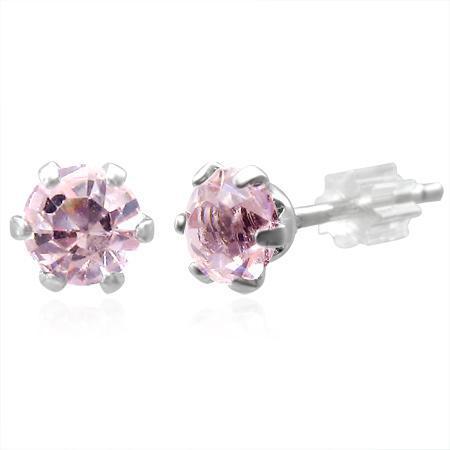 Cercei fantezie cu pietricele roz 0