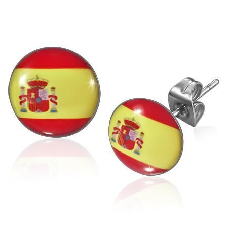 Cercei otel inox cu steagul Spaniei 0