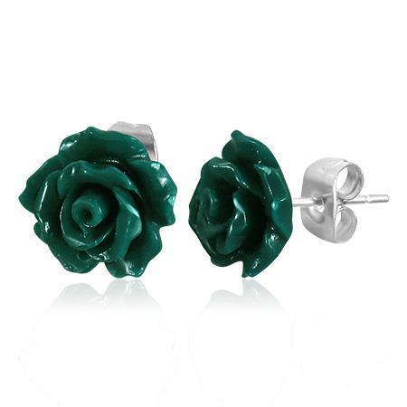 Cercei otel inox in forma de trandafiri 0