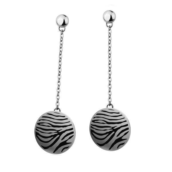Cercei otel inox model zebra 0