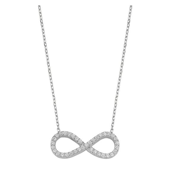 Colier argint 925 rodiat cu simbolul infinit si zirconii albe - Infinite You CTU0053 0
