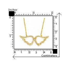 Colier argint 925 aurit cu aripi de inger 2