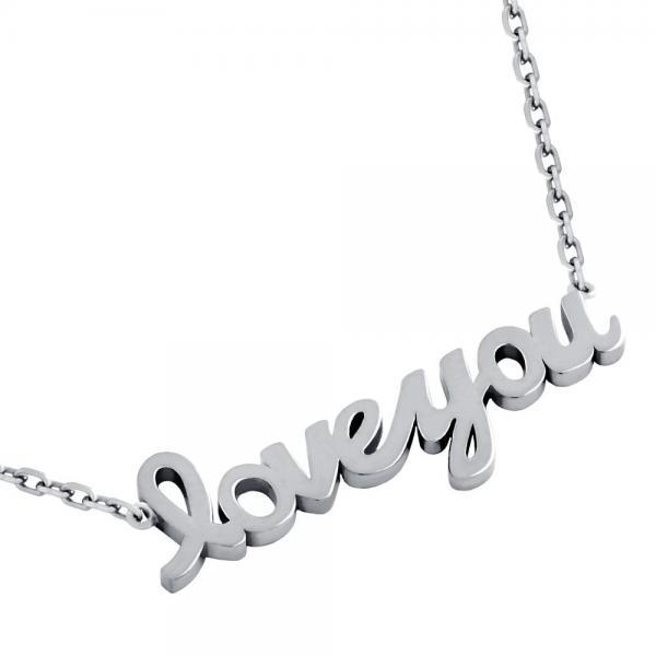 Colier argint 925 rodiat Love You 0