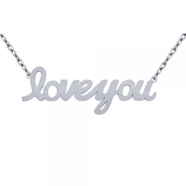 Colier argint 925 rodiat Love You 1