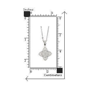 Colier argint 925 rodiat cu floare si zirconii [2]