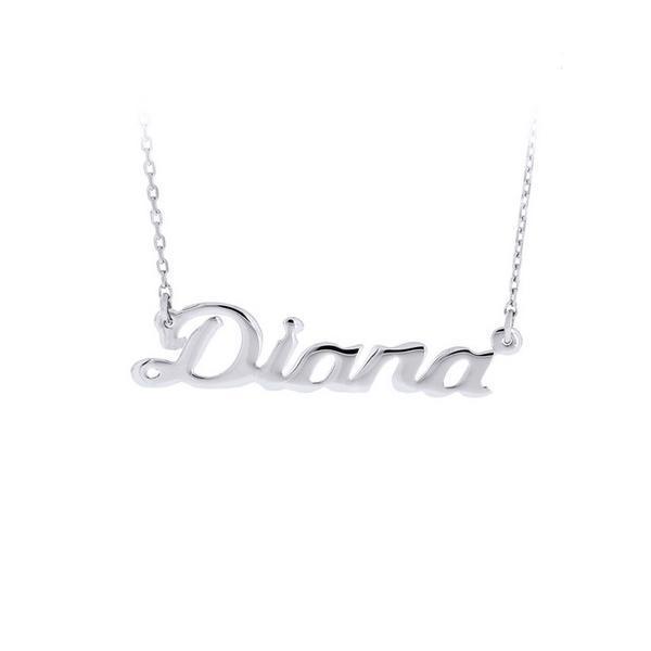 Colier argint 925 rodiat cu nume Diana 0