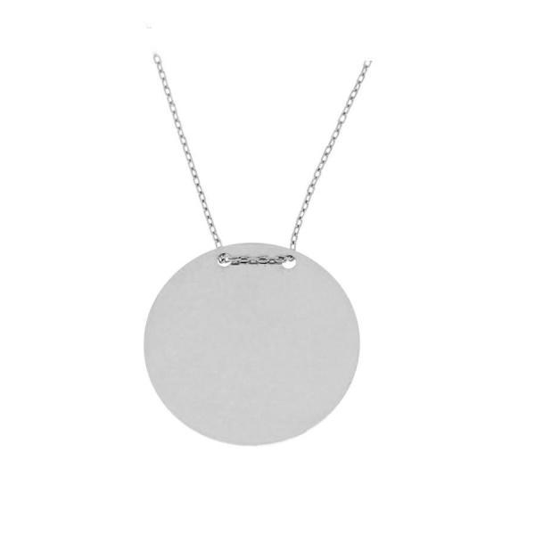 Colier cu banut mare din argint 925 rodiat 2.2 cm - Be Authentic 0