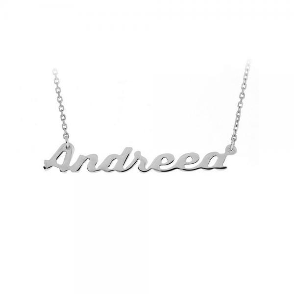 Colier din argint 925 personalizat cu nume Andreea 0