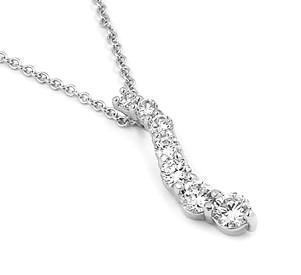 Colier elegant argint 925 rodiat cu zirconii 0