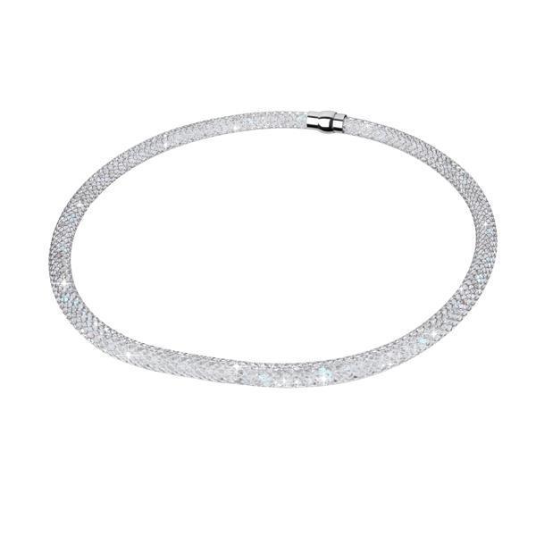Colier elegant cu cristale si otel inoxidabil 0