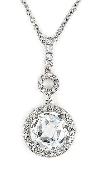 Colier elegant din argint 925 rodiat cu zirconii 1