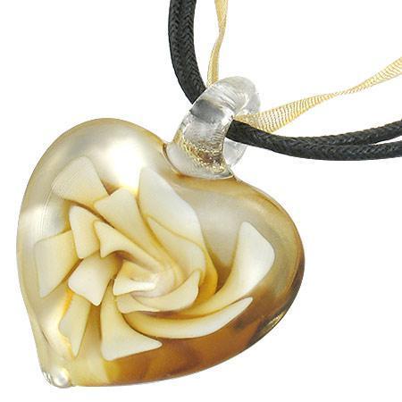 Colier inimioara cu floare 0