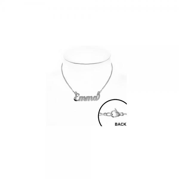 Colier personalizat cu numele Emma din inox 1
