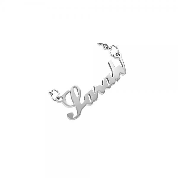 Colier otel inox cu nume Sarah [0]