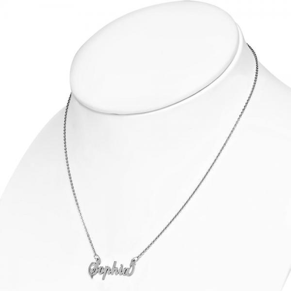 Colier personalizat cu numele Sophia din inox 1