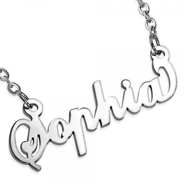 Colier personalizat cu numele Sophia din inox 0