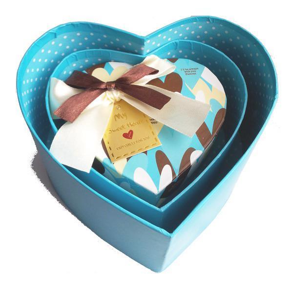 Cutie bijuterii inimioara cu fundita 1