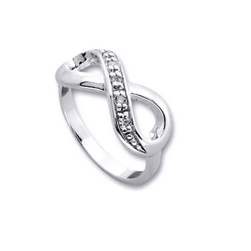 Inel argint 925 rodiat cu simbolul infinit si zirconii albe - Infinite You IBU0030 0