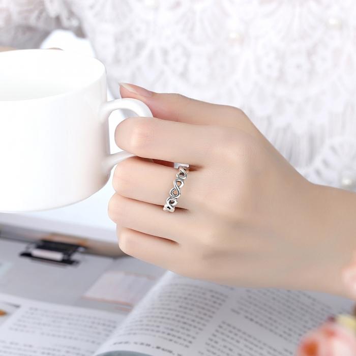 Inel placat cu argint cu simbolul infinit IST0004_173 1