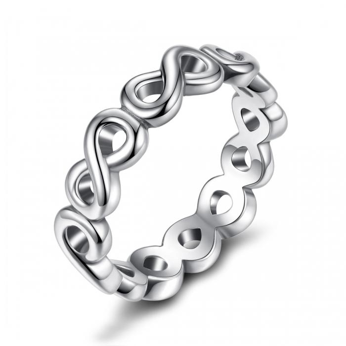 Inel placat cu argint cu simbolul infinit IST0004_173 0