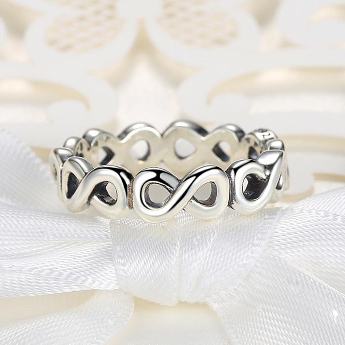 Inel placat cu argint cu simbolul infinit IST0004_173 4