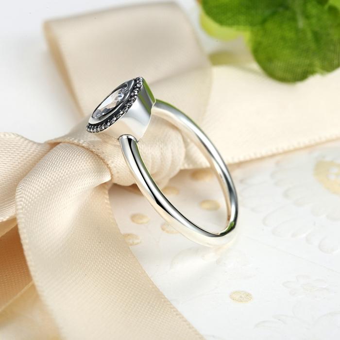 Inel argint 925 cu inimioara si zirconii albe IST0013 3