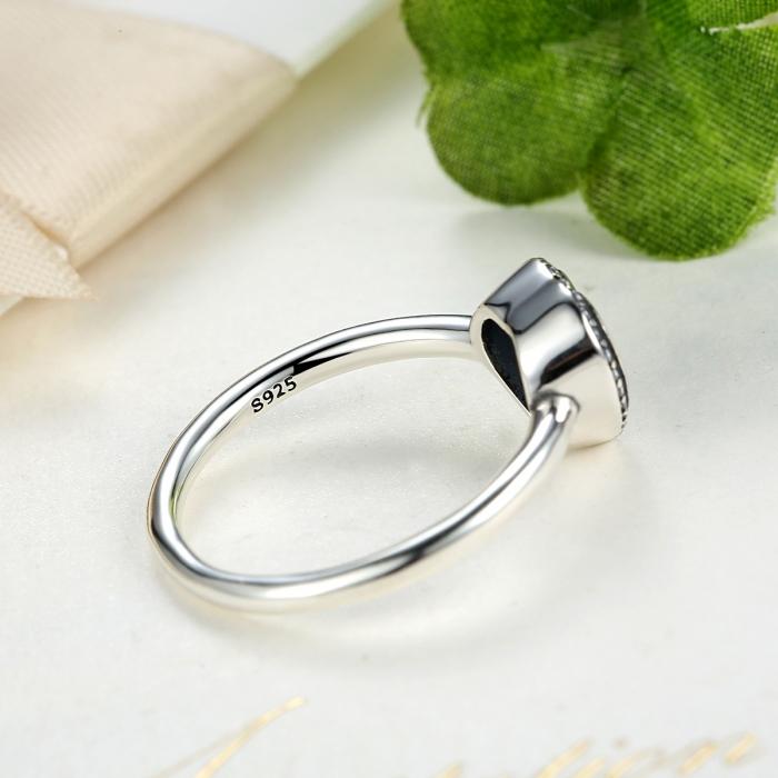 Inel argint 925 cu inimioara si zirconii albe IST0013 4
