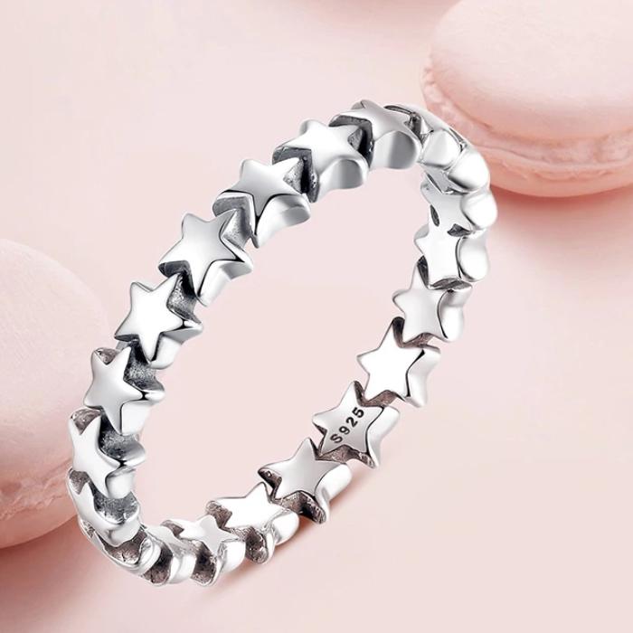 Inel argint 925 patinat cu stelute IST0014 [2]