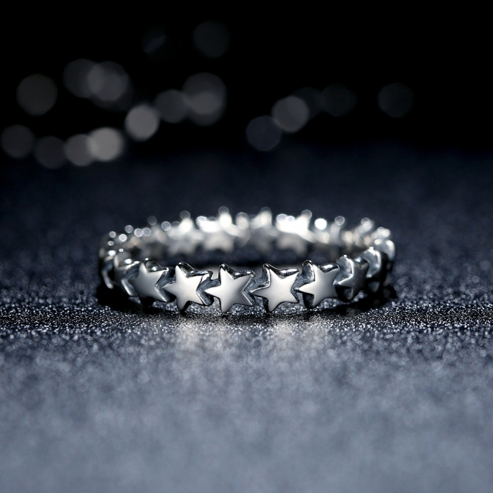 Inel argint 925 patinat cu stelute IST0014 [3]