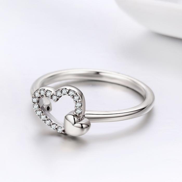 Inel argint 925 cu inimioare si zirconii - Be in Love IST0040 4