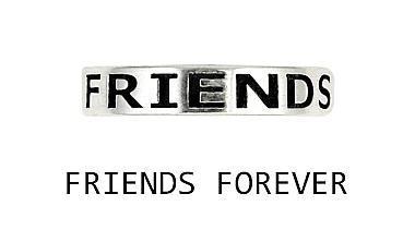 Inel argint 925 FRIENDS  FOREVER cu aspect vintage 1
