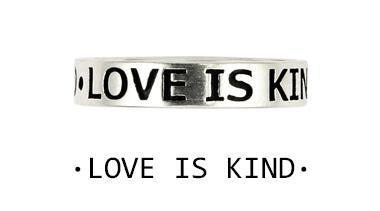 Inel argint 925 LOVE IS KIND cu aspect vintage 1