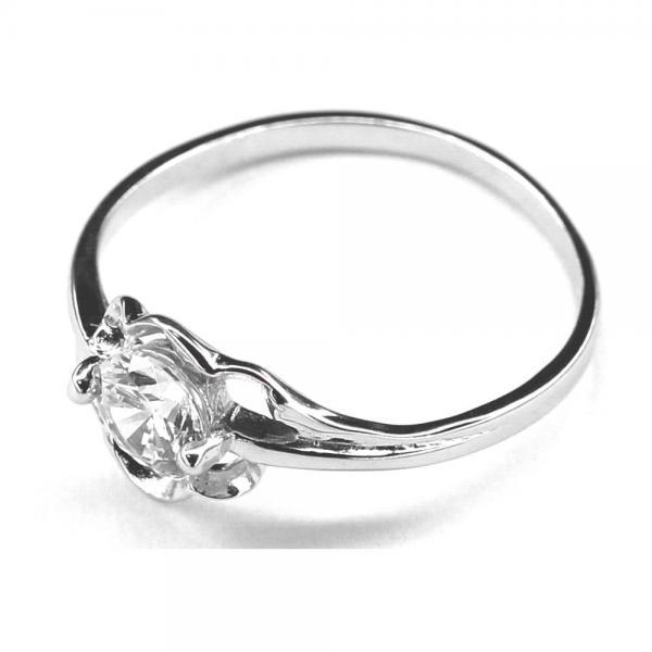 Inel argint 925 cu floare si zirconii [1]
