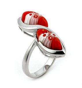 Inel argint 925 cu sticla de Murano 0