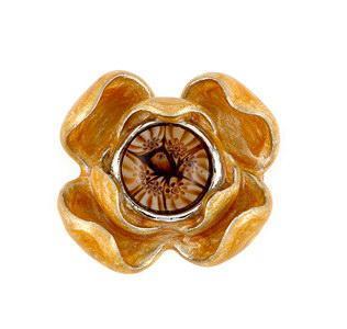 Inel argint 925 cu sticla de murano in forma de floare 1
