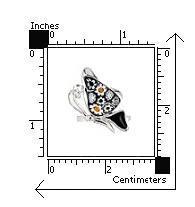 Inel argint 925 cu sticla de murano in forma de fluturas 2