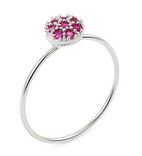 Inel argint 925 cu zirconii roz 0