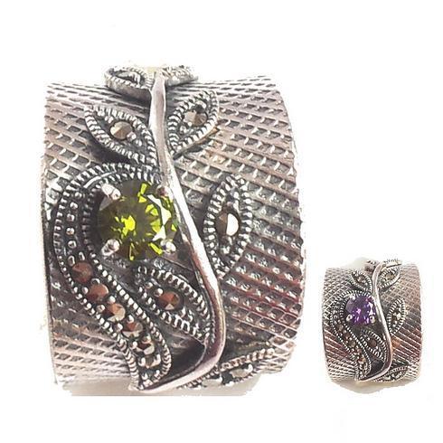 Inel argint 925 cu zirconii si marcasite 0